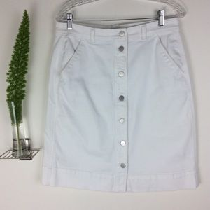 Ann Taylor Factory Pretty White Denim Skirt (12)